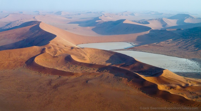 Astounding dune formations make this an amazing scenic flight.