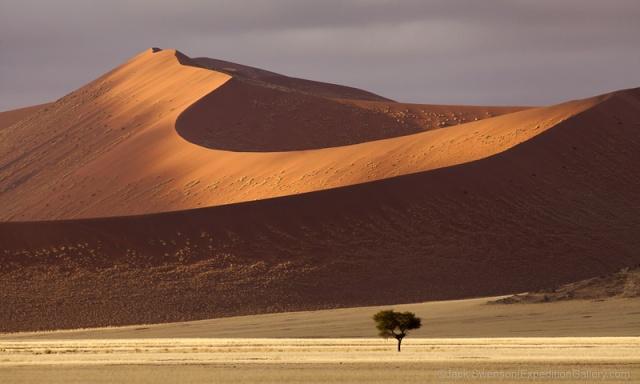 Unusual weather created stunning lighting over the dune corridor.